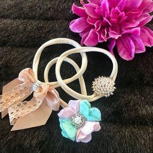 Other - 3 baby girl headbands